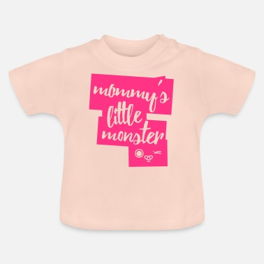 Födelsedag Mommys Little Monster - Baby-T-shirt