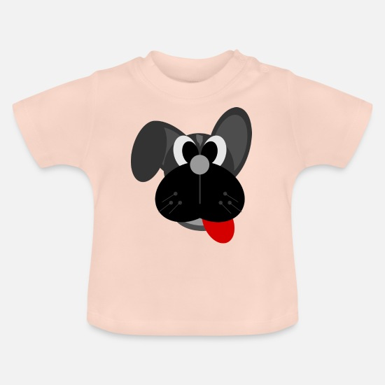 Christmas Baby Clothes - Dog cartoon - Baby T-Shirt crystal pink
