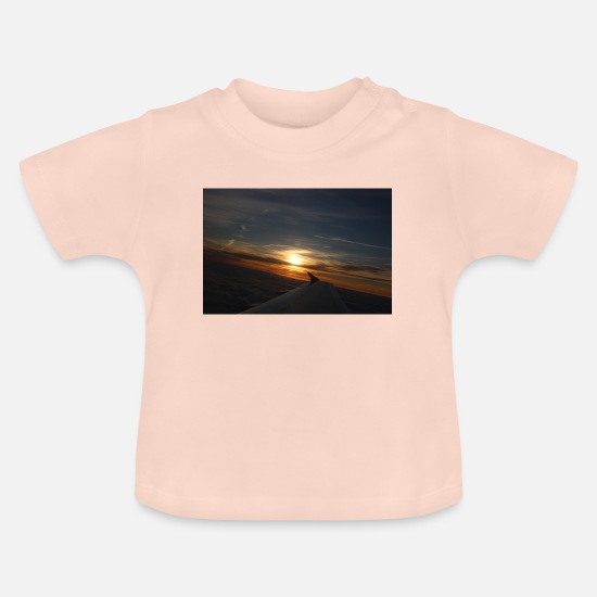 Sunset Baby Clothes - sunset flight - Baby T-Shirt crystal pink