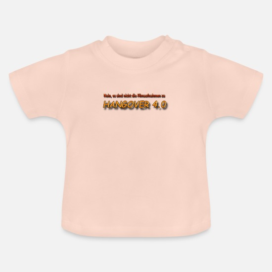 Guys Night Out Baby Clothes - Hangover 4.0 - Baby T-Shirt crystal pink