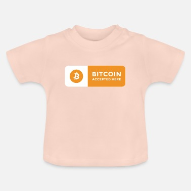 Herefordshire Bitcoin accepted here sign horizontal2 - Baby T-skjorte