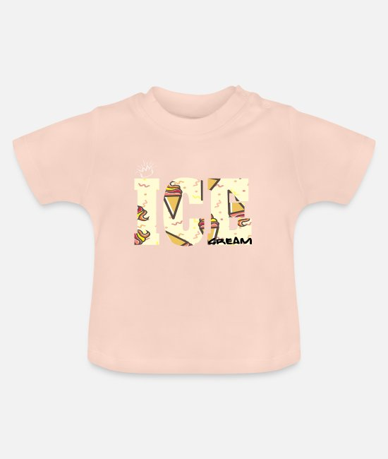 Summertime Baby Clothes - ice cream - Baby T-Shirt crystal pink