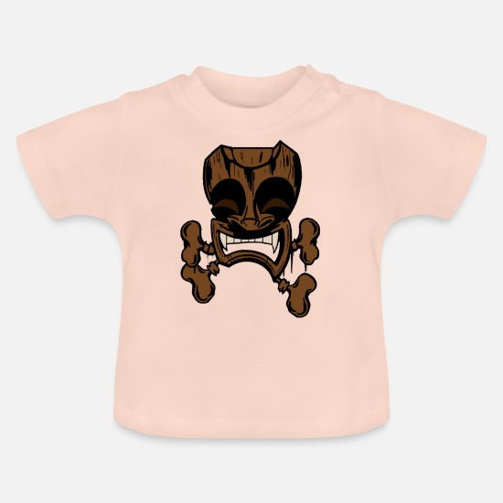 Surfer Baby Clothes - tiki wood - Baby T-Shirt crystal pink
