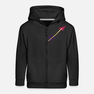 Stag Underwear Symbol - Shooting Arrow - Kids' Premium Zip Hoodie