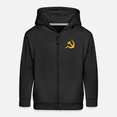 Communist Hammer & Sickle - Kids' Premium Zip Hoodie