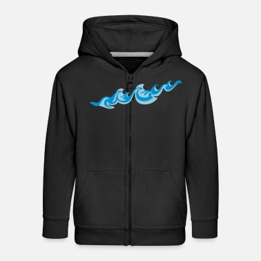 Sea Underwear Waves 2C - Kids' Premium Zip Hoodie
