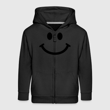 Cartoon Happy Smiley Face - Kids' Premium Zip Hoodie