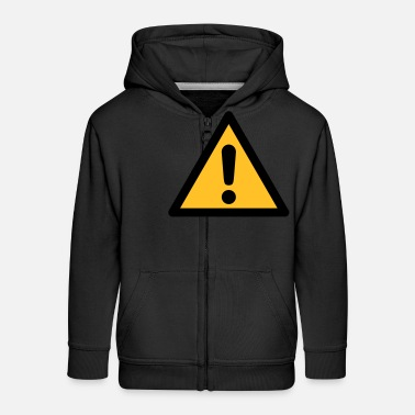 Hazard Symbol - General Danger (2-color) - Kids' Premium Zip Hoodie