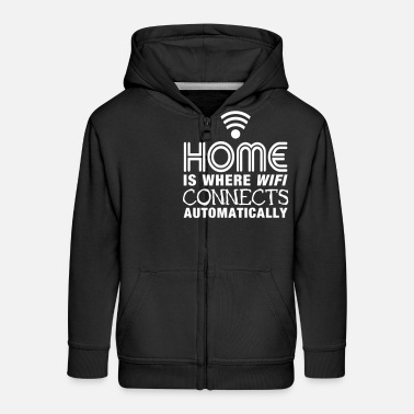 Geek home is where the wifi connects automatically II - Kinderen premium zip hoodie