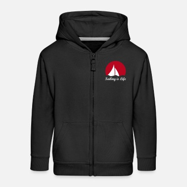 Sailboat Sail sailboat sailing  sailboat in the wind - Kids' Premium Zip Hoodie