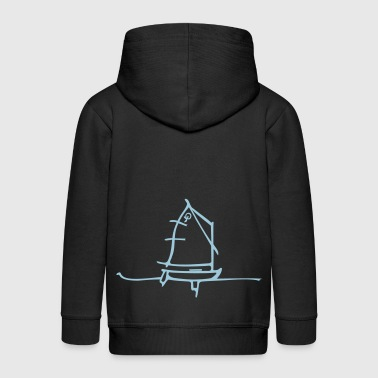 optimist_et_vague - Veste à capuche Premium Enfant