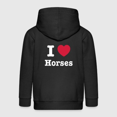 This design lets you change all colours - I love Horses - Kinderen Premium jas met capuchon