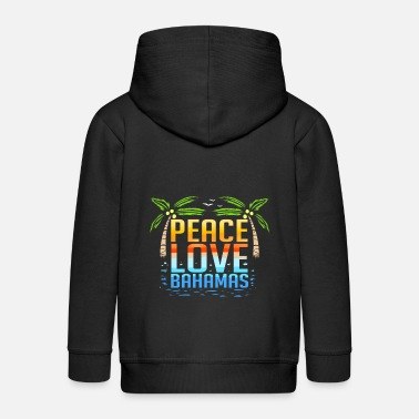 Fun Peace Love Bahamas - Kids' Premium Zip Hoodie