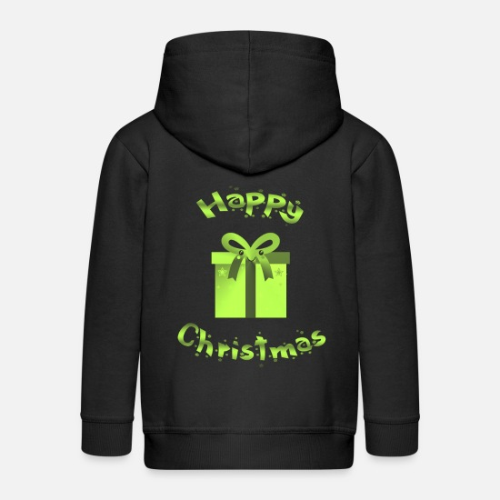 Gift Idea Hoodies & Sweatshirts - Christmas present Happy Christmas - Kids' Premium Zip Hoodie black