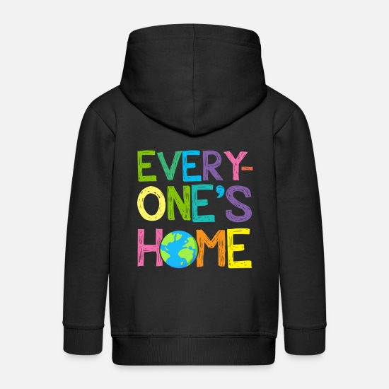 Birthday Hoodies & Sweatshirts - Earth Day Every One's Home Save Our Planet Shirt - Kids' Premium Zip Hoodie black