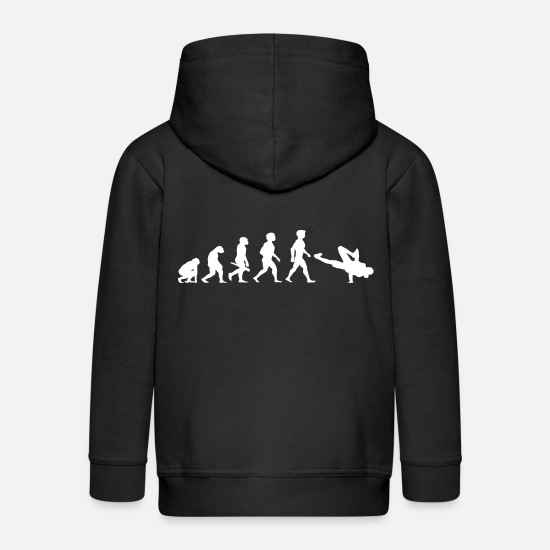 Breakdance Felpe - Evolution Breakdance Breaking Breakdance Hip Hop - Felpa con zip premium per bambini nero