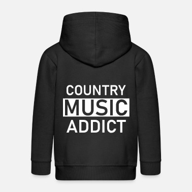 Countrymusic Country music addict as a countrymusic gift idea - Kids' Premium Zip Hoodie