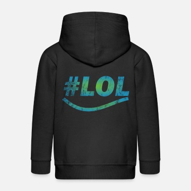 Laughing Out Lout LOL - Laugh out lout - laugh - Kids' Premium Zip Hoodie
