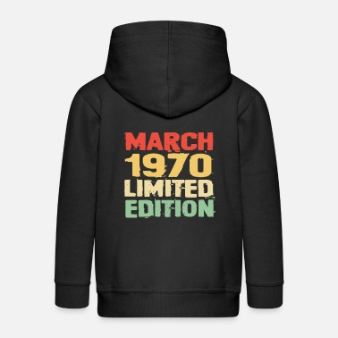 March 1970 - Kids' Premium Zip Hoodie