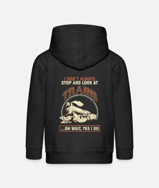 Training Hoodies & Sweatshirts - Railway Engine Transportation Railroad Locomotive - Kids' Premium Zip Hoodie black