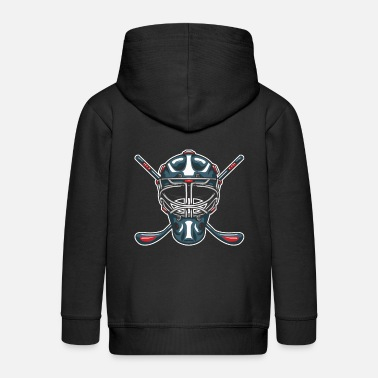Sports Ice Hockey Mask Sports Ice Hockey Player Gift - Premium zip hoodie barn