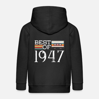 1947 1947 Vintage 73 th Birthday Anniversary Gift - Kids' Premium Zip Hoodie
