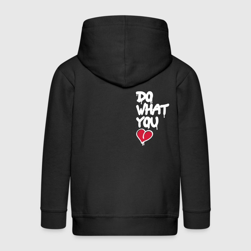 do what you love - Kids' Premium Zip Hoodie