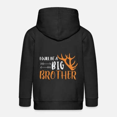 Brothers Brother-to-be brother - Kids' Premium Zip Hoodie
