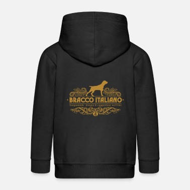 Wingshooter bracco_italiano_ornamental - Kids' Premium Zip Hoodie