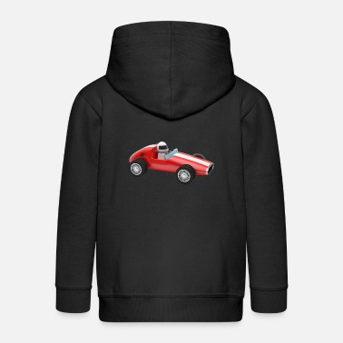 Driver racing car auto automobile toy - Kids' Premium Zip Hoodie