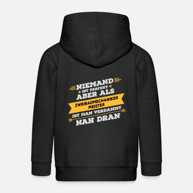 Two Master Two wheel mechanic master's work gift - Kids' Premium Zip Hoodie