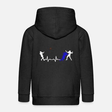 Heart Heartbeats Love Football Sports T-shirt - Kids' Premium Zip Hoodie