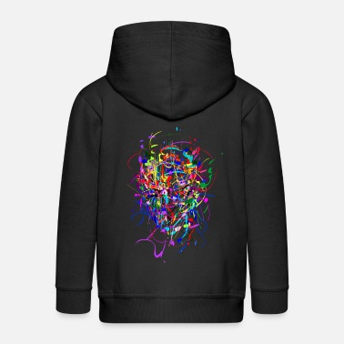 Multi Coloured Color - Bomb / Abstract / Face - Kids' Premium Zip Hoodie