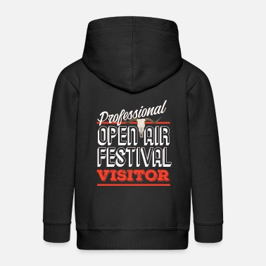 Concertgoers Professional open air visitor funny gift - Kids' Premium Zip Hoodie