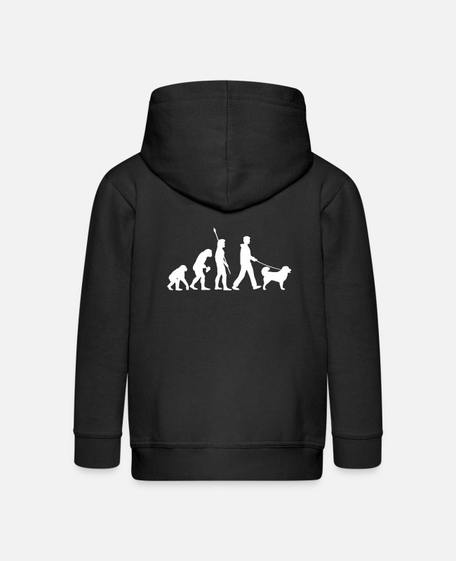 Shepherd Hoodies & Sweatshirts - Caucasian Shepherd Dog Owner Cool Dog Gift Idea - Kids' Premium Zip Hoodie black