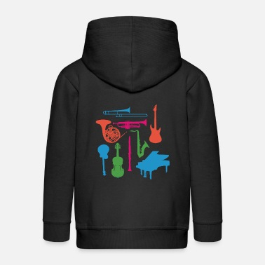 Instrument Musical Instruments - Kids' Premium Zip Hoodie