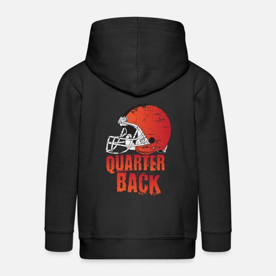 American Football Hoodies & Sweatshirts - Quarterback American Football Gift Touchdown - Kids' Premium Zip Hoodie black