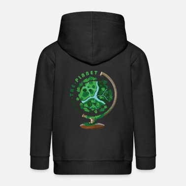 Save The Planet Planet Globus Geschenk Welt Save the Planet - Kinder Premium Kapuzenjacke