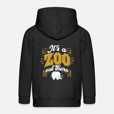 Zoo Animal Zoo Zoo Animal Zoology Zoo Animal Keeper - Kids' Premium Zip Hoodie