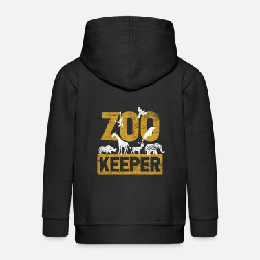 Zoo Animal Zoo animal Zoo Zoo animal keeper - Kids' Premium Zip Hoodie