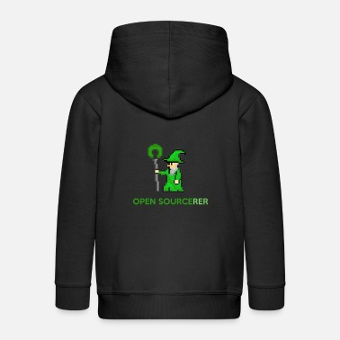 Open Sourcerer Open sourcerer developer t-shirt - Kids' Premium Zip Hoodie