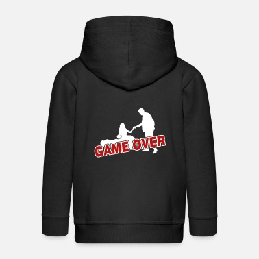 Game Over Game over - the game is over - Kids' Premium Zip Hoodie
