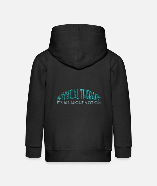 Bless You Hoodies & Sweatshirts - Physiotherapy movement - Kids' Premium Zip Hoodie black