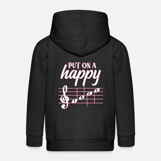 Flute Hoodies & Sweatshirts - Classical music - Kids' Premium Zip Hoodie black