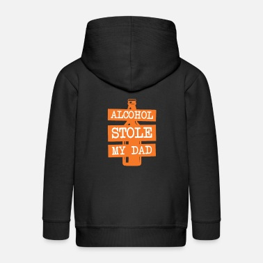 Alcoholic Anti Alcohol Alcohol dependent alcohol addiction - Kids' Premium Zip Hoodie