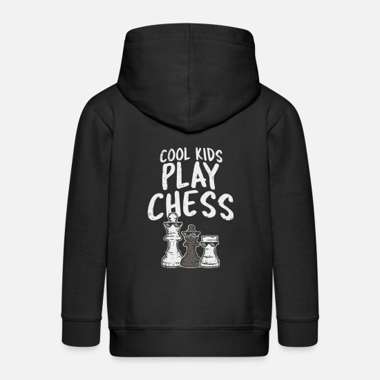Kids Hoodies & Sweatshirts - Cool Kids Play Chess Chess Figure Player - Kids' Premium Zip Hoodie black