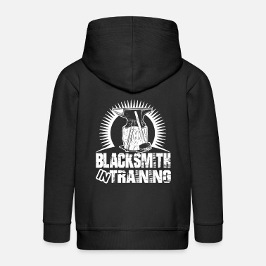 Cool Blacksmith In Training - Kids' Premium Zip Hoodie