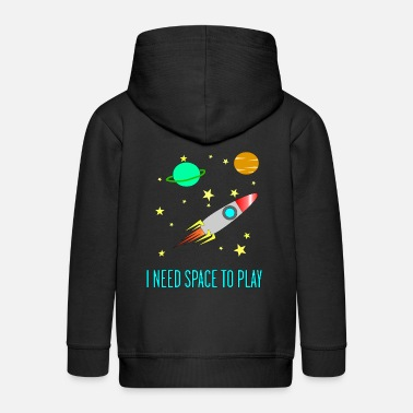 I Need Space To Play, Funny, For Kids, Gift idea, - Kids' Premium Zip Hoodie