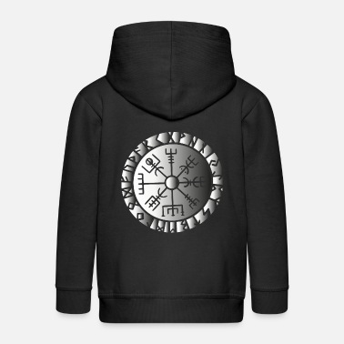 Norse Compass Viking symbol sign Norse gods compass - Kids' Premium Zip Hoodie