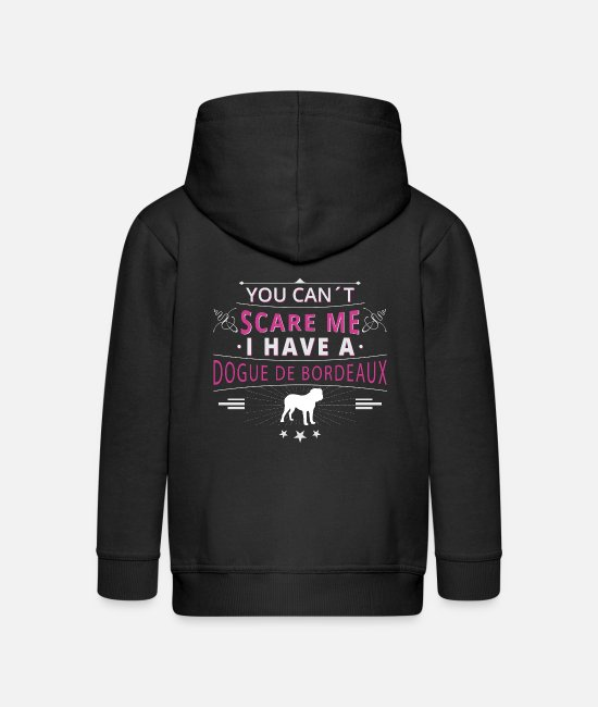 Father's Day Hoodies & Sweatshirts - Bordeaux dog scare dogue de bordeaux - Kids' Premium Zip Hoodie black
